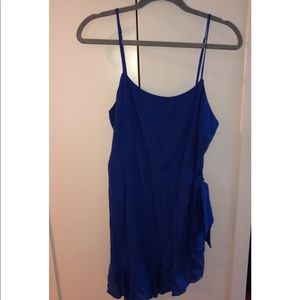Lulu's royal blue side tie dress, worn once